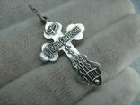 Новый Серебряный Крест Крестик Распятие Купола Голубь Дух Святой 925 проба Серебро 476, фото №3