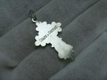 Серебряный Крест Крести Распятие Молитва Спаси и сохрани 925 проба Серебро 383 фото 2