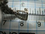 Серебряный Крест Крестик с Камнями Ажурный Спаси и сохрани 925 проба Серебро 466, фото №5