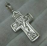 Серебряный Крестик Распятие Молитвы Да воскреснет Крест хранитель вселенной 925 проба 476