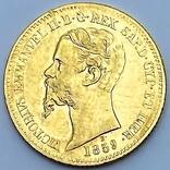 20 лир. 1859. Сардиния. (золото 900, вес 6,45 г), фото №3