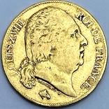 20 франков. 1818. Луи XVIII. Франция (золото 900, вес 6,38 г), фото №2