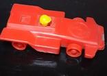 Винтажная миниатюрная гоночная машинка с гонщиком из СССР, клеймо, фото №3