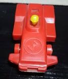 Винтажная миниатюрная гоночная машинка с гонщиком из СССР, клеймо, фото №4