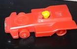Винтажная миниатюрная гоночная машинка с гонщиком из СССР, клеймо, фото №2