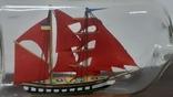 Корабль в бутылке. Модель ручная работа, фото №3