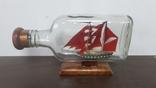 Корабль в бутылке. Модель ручная работа, фото №8