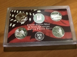 25 центов сша 2008 года. 5 монет. Серебро, фото №2
