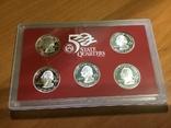 25 центов сша 2008 года. 5 монет. Серебро, фото №3