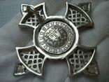 Серебряный Крест Большой Ручная Работа Геральдическая Лилия Камни 925 проба Серебро 324, фото №3
