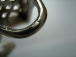 Серебряный Крест Большой Ручная Работа Геральдическая Лилия Камни 925 проба Серебро 324, фото №5