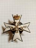 """Копия """"Знак 111-го пехотного Донского полка"""" серебро, фото №3"""