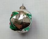 Елочная игрушка Шар со звездой 1960г., фото №3