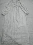 Сорочка білим по білому з вирізуванням,Миргородська вишиванка конопляна полотняна, фото №2