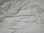 Сорочка білим по білому з вирізуванням,Миргородська вишиванка конопляна полотняна, фото №5