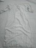 Сорочка білим по білому з вирізуванням,Миргородська вишиванка конопляна полотняна, фото №9