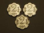3 монеты по 2 пайсы, Индия, фото №2