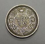 1/4 рупии, 1943 г Индия, фото №2