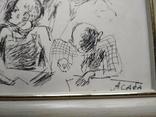 """Учитель"" б.тушь. 20х30. Ан. Асаба (1943-1976), фото №6"