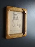 """""""За столом"""" б.тушь. 13 х 9. Ан. Асаба(1943-1976), фото №4"""