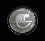 Мадагаскар 20 ариари, 1988 - ФАУНА. Лемур - серебро, фото №2