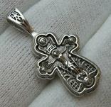 Серебряный Крест Крестик Ангелы Крылья Молитва Да воскреснет Бог 925 проба Серебро 346