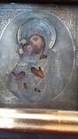 Икона Богородица Владимирская оклад серебро 84, фото №3