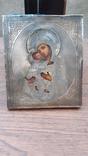 Икона Богородица Владимирская оклад серебро 84, фото №4
