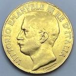 """50 лир. 1911. """"50 лет Королевству"""" Италия (R) (золото 900, вес 15,66 г), фото №2"""
