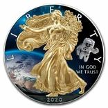 Серебро США.1 унция серебра (31.1 гр.).ЭксклюзивТираж 50 монет, фото №2