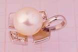 Золотой кулон 750 с бриллиантами 0, 06карат, фото №3