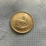 2 ранда 1966 год ЮАР золото 7,99 грамм 917', фото №2