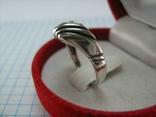 Серебряное Кольцо Размер 17.5 Треугольник Нос 925 проба Серебро 766, фото №4