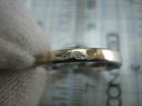Серебряное Кольцо Размер 17.5 Треугольник Нос 925 проба Серебро 766, фото №6