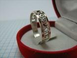 Серебряное Кольцо Размер 21.75 Молитва Спаси и сохрани 375 проба Золото 925 Серебро 817, фото №4
