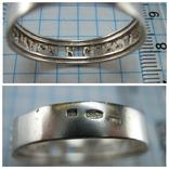 Серебряное Кольцо Размер 21.75 Молитва Спаси и сохрани 375 проба Золото 925 Серебро 817, фото №6