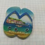 Магнит Болгария. Шлепанцы. 42х50мм, фото №2