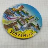 Магнит Словения. Диаметр 70мм, фото №2
