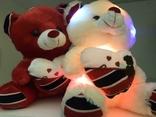 Мягкая игрушка светящийся мишка Тедди., фото №3