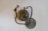 Кишеньковий годинник Молния з цепочкою, фото №3