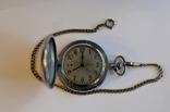 Кишеньковий годинник Молния з цепочкою, фото №2