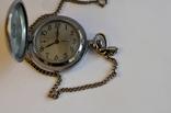 Кишеньковий годинник Молния з цепочкою, фото №5