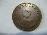 Германия Третий Рейх 2 пфеннига 1939 В, фото №2