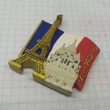 Магнит Франция, Париж. 47х60мм, фото №2