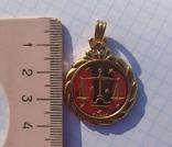 Кулон с жетоном UnoAErre, Италия., фото №3