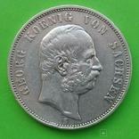 5 марок, 1903 год, Саксония,, фото №2