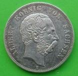 5 марок, 1901 год, Саксония., фото №2
