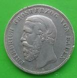 5 марок, 1875 год, G, Баден,, фото №2