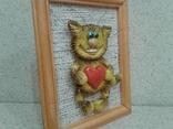 Котенок с большим сердцем (хенд мейд), фото №3