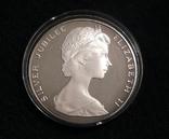 Бермудские Острова, 25 долларов, 1977 - 25 лет правления Елизаветы II - серебро 54.75 г., фото №3